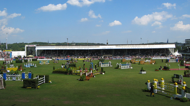 The grandstand at Aachen